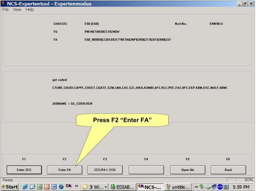 NCS Expert change BMW Vehicle Order-7