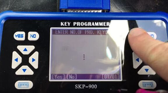 How to program key for VW Bora all key lost-10