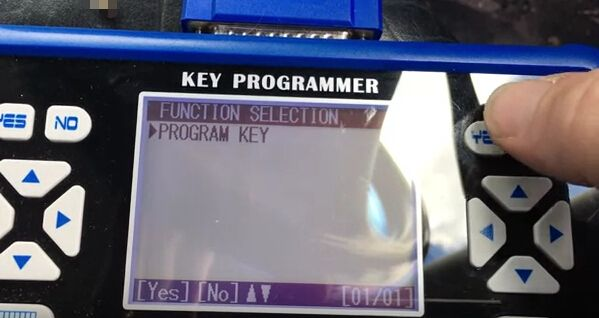 How to program key for VW Bora all key lost-7