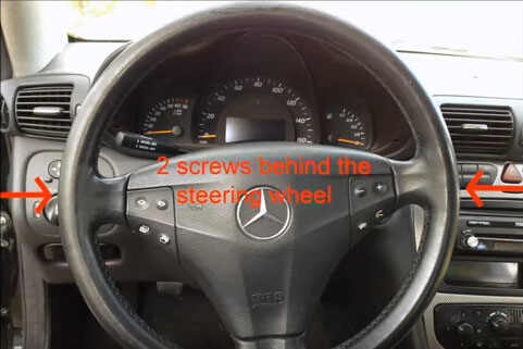 Mercedes Benz C230 Steering Angle Sensor Removal Guide-3
