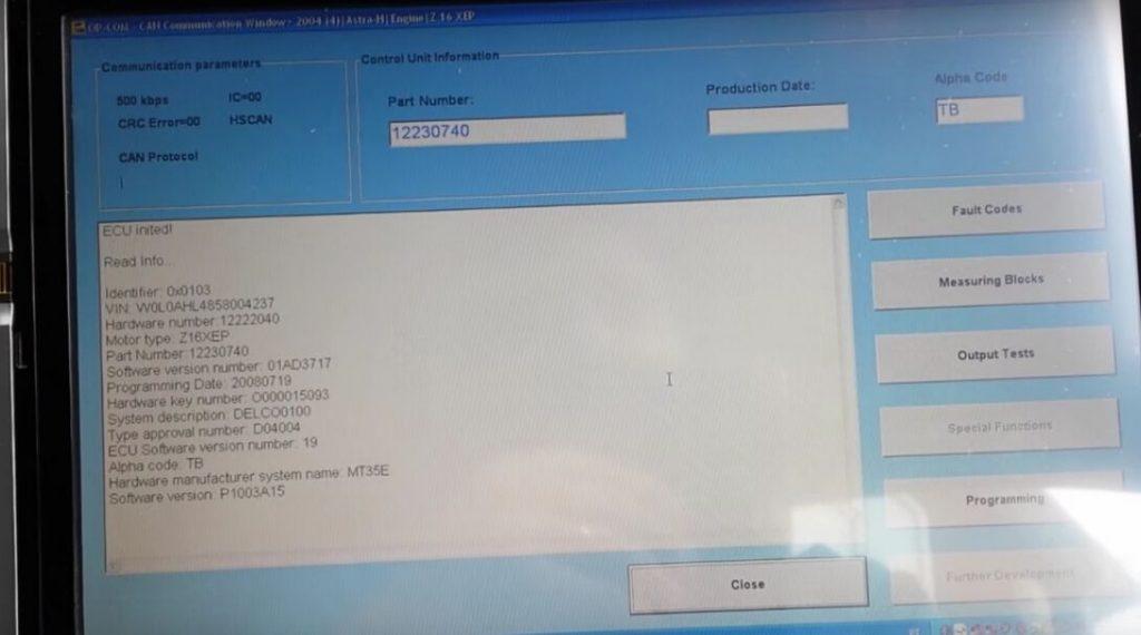 Reset & Reprogram Vauxhall Astra H ECU By OPCOM |Auto Repair