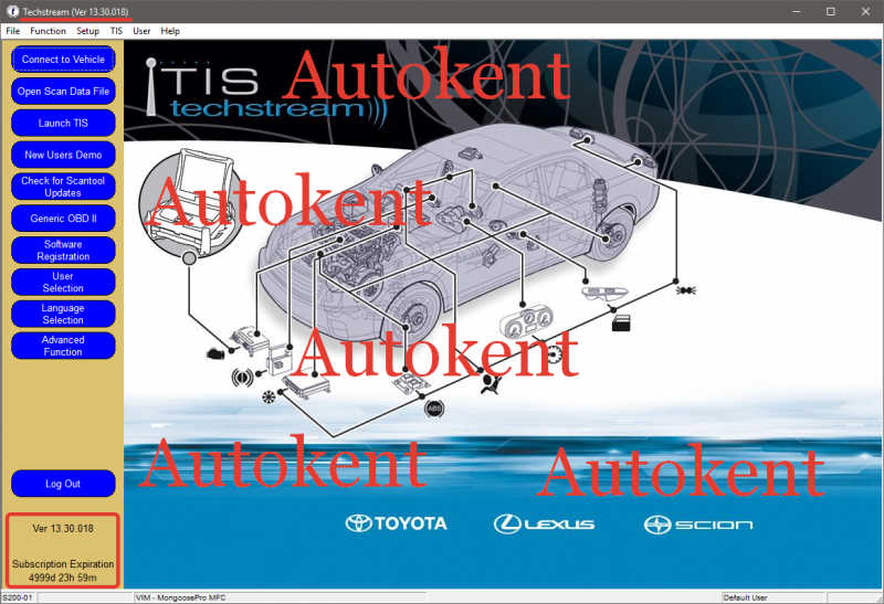 Latest Toyota TIS Techstream V13.30.018 Software Free Download