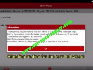 BMW F Chassis 2011 Bleeding ABS Brake Operation Guide (6)