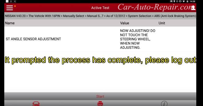 How to Reset Nissan Steering Angle Sensor (2009~2014) (4)