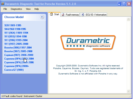 Durametric Porsche Diagnostic Tool Software & Hardware Update |Auto
