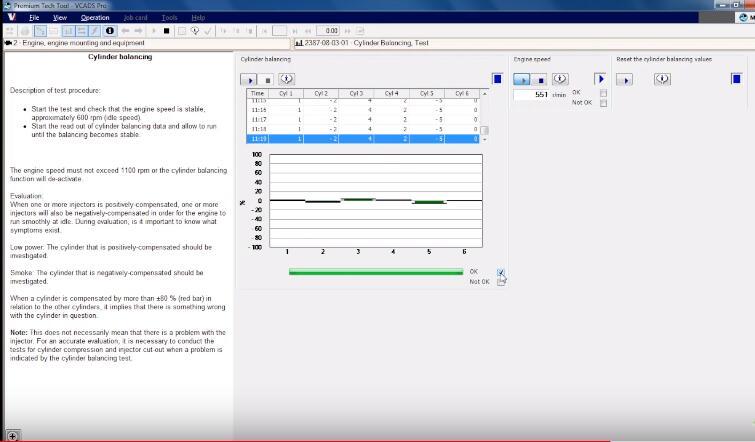 Volvo Premium Tech Tool PTT Cylinder Balance Test-6