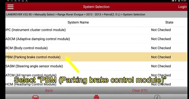 Range Rover Evoque 2012 Parking Brake Pad Replacement Matching (2)