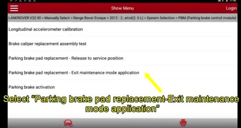 Range Rover Evoque 2012 Parking Brake Pad Replacement Matching (4)