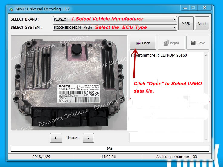 IMMO Universal Decoding 3 2/3 5/4 5 Free Download |Auto Repair