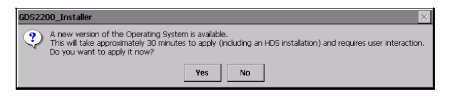 GDS2200 CE Operating System Update Procedure (1)