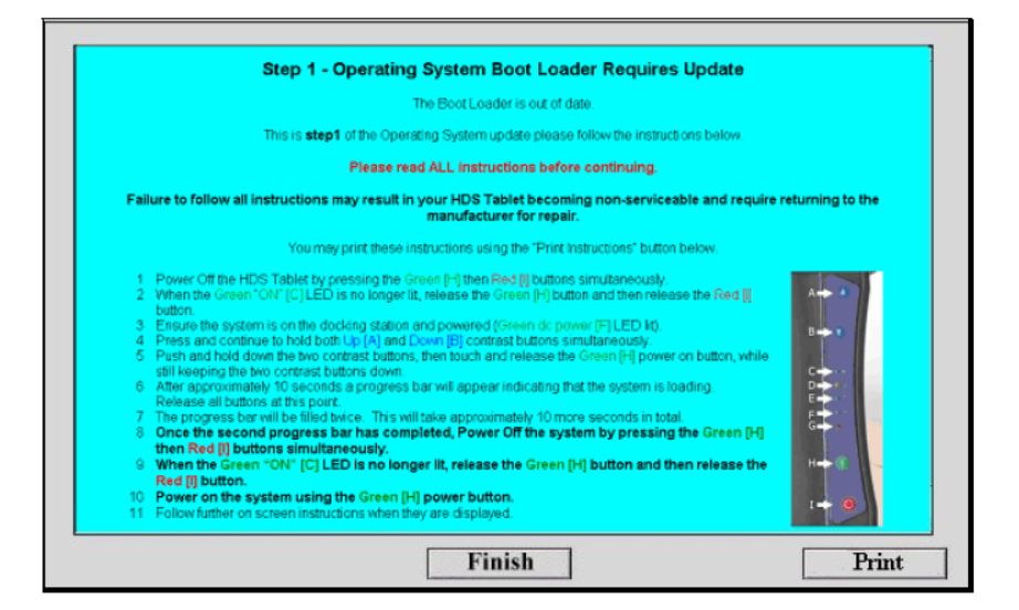 GDS2200 CE Operating System Update Procedure (2)