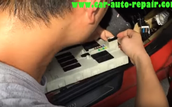 How to Remove BMW Front Electronic Module(FEM) (3)