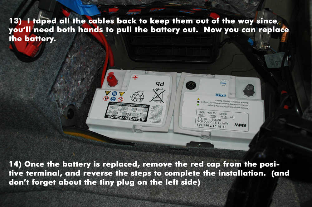 How to Replace New Battery for BMW E90 (13)