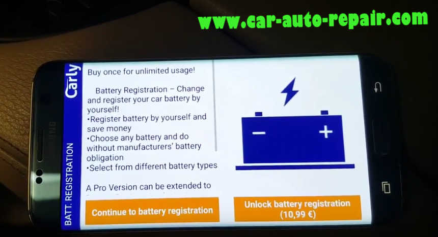 Carly BMW Register Battery for BMW F10 535i 2011 (11)