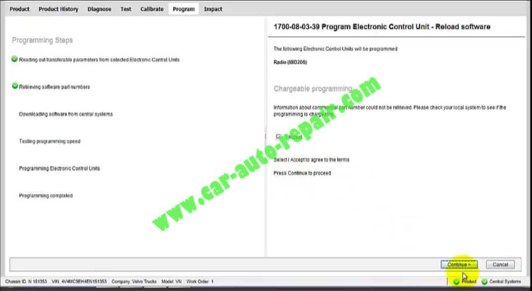 How to Use Volvo PTT to Program Radio (6)