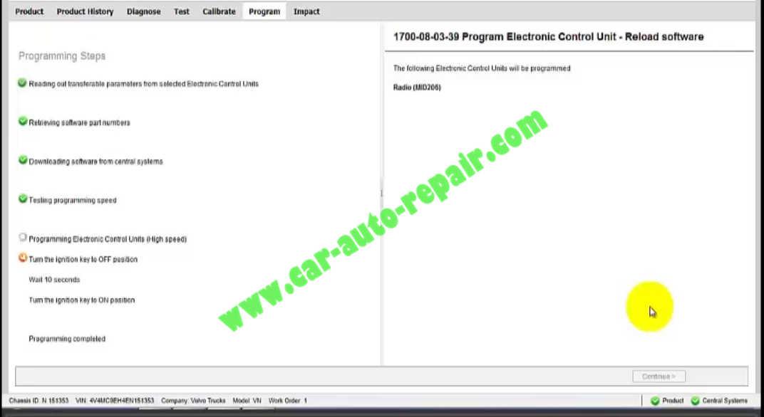 How to Use Volvo PTT to Program Radio (7)