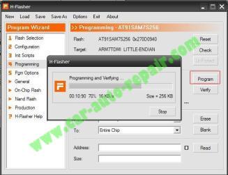 How to Reflash CARPROG MCU AT91SAM7S256 (14)