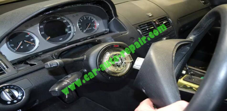 How to Remove & Replace Benz ESL ELV Electronic Steering Lock (4)