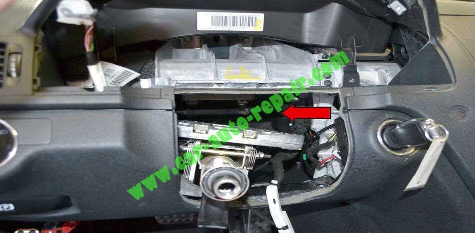 How to Remove & Replace Benz ESL ELV Electronic Steering Lock (8)