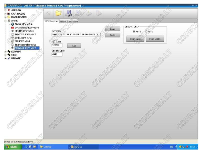 Carprog Program Infrared Key for Renault MeganeScenic (8)