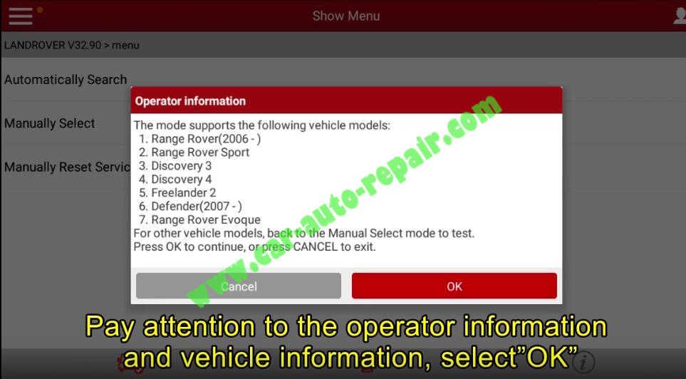Lauch X431 Calibrate Longitudinal Accelerometer for Range Rover Evoque 2012 (2)