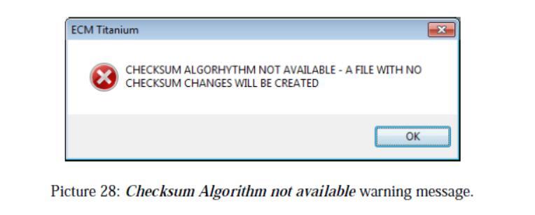 ECM Titanium Validate a Modified File Using the Checksum (1)
