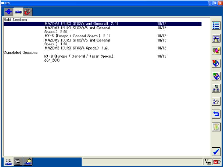 Mazda IDS Software Vehicle Identification and Session Management (12)