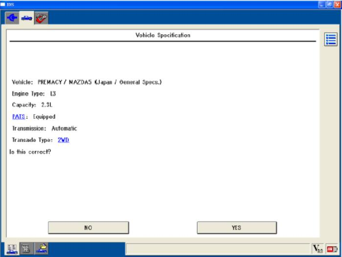 Mazda IDS Software Vehicle Identification and Session Management