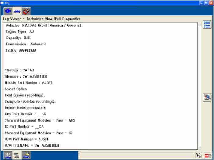 Mazda IDS Software Vehicle Identification and Session Management (9)
