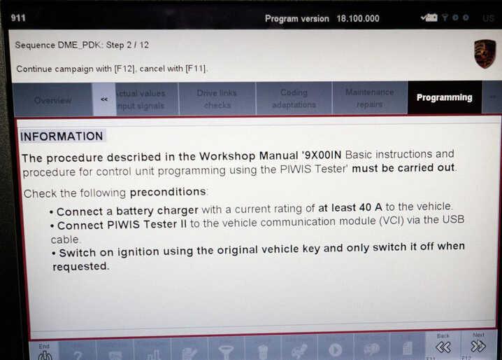 Porsche PIWIS II 2 Perform a Forced PDK Update for Porsche (12)