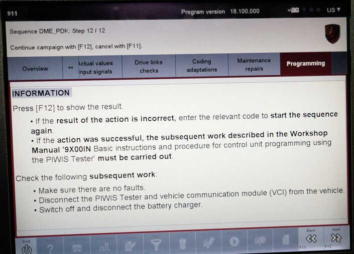 Porsche PIWIS II 2 Perform a Forced PDK Update for Porsche (15)