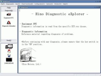 Hino Diagnostic Explorer & Reprog Manager 3.1.6 Free Download