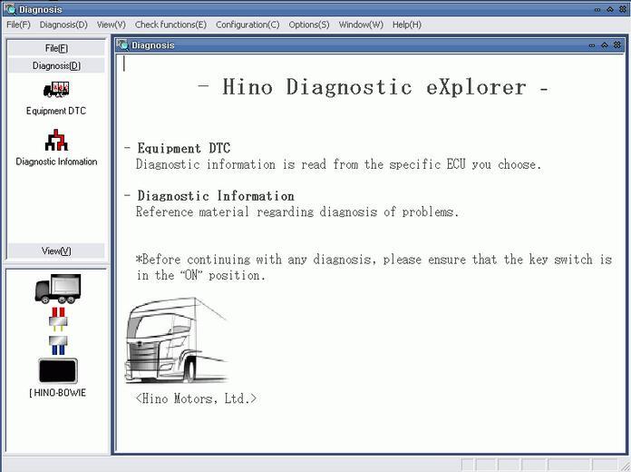 Hino Diagnostic Explorer & Reprog Manager 3.1.6 Free Download