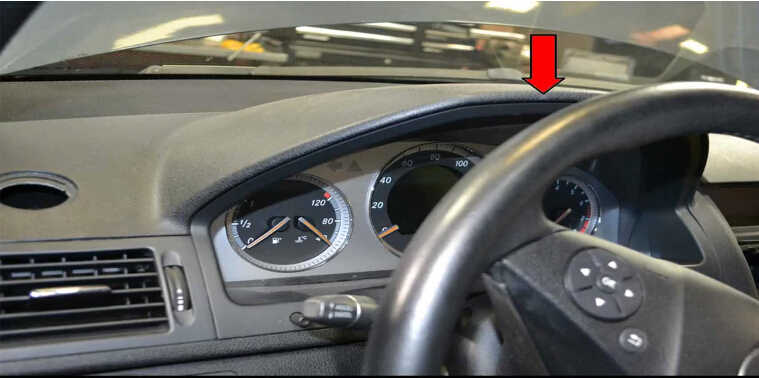 How to Remove Instrument Cluster for Mercedes Benz W204 (2)