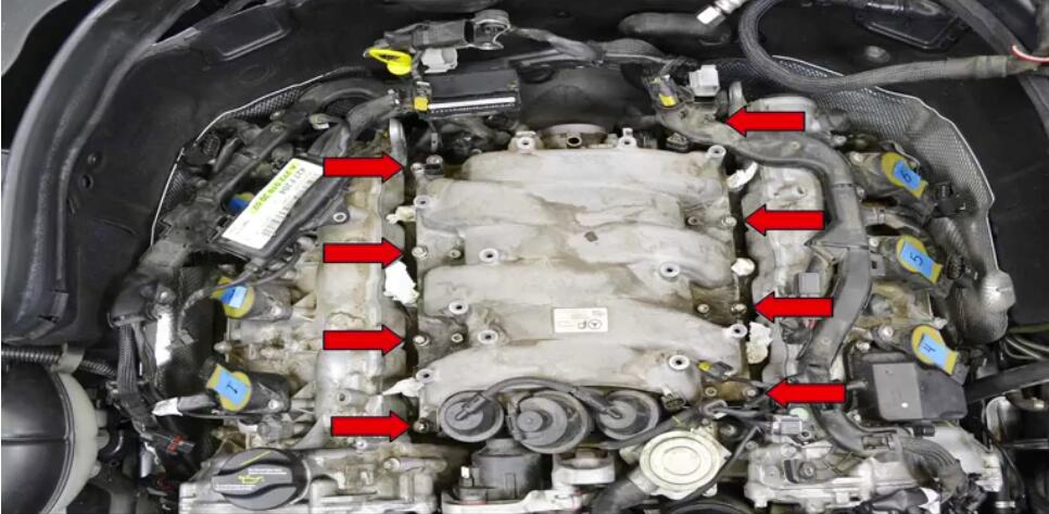 How to Remove Mercedes Benz Intake Manifold (25)