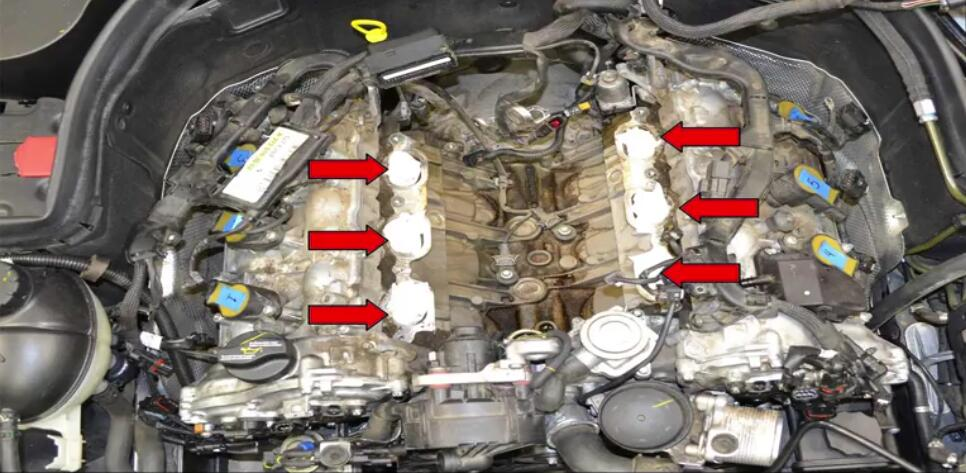 How to Remove Mercedes Benz Intake Manifold (27)