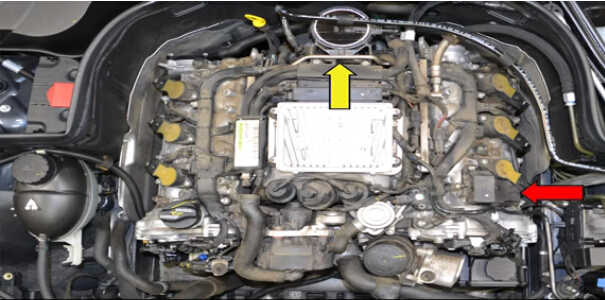 How to Replace Air Oil Separator for Mercedes Benz (1)