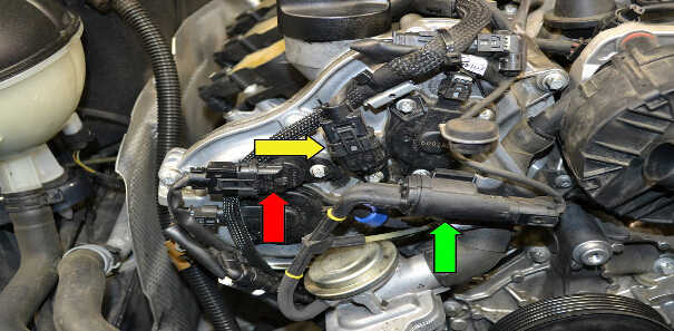 How to Replace Camshaft Position Sensor for Mercedes Benz (9)
