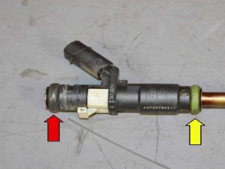 How to Replace Fuel Injector for Benz C350 (22)