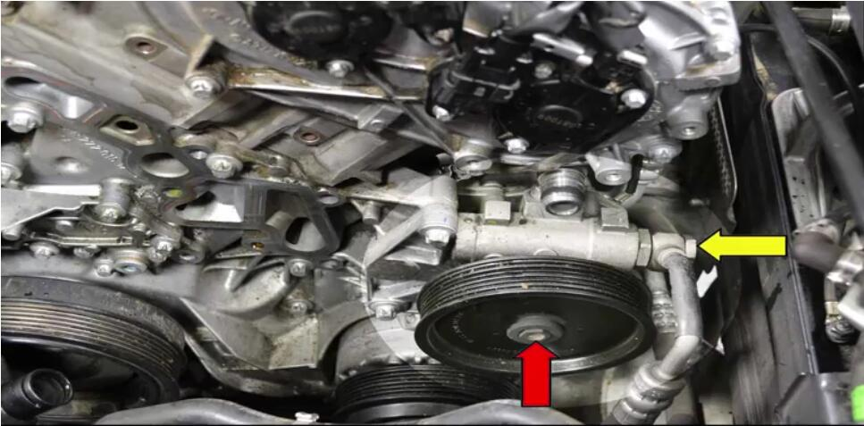 How to Replace Power Steering Pump for Benz W204 (8)