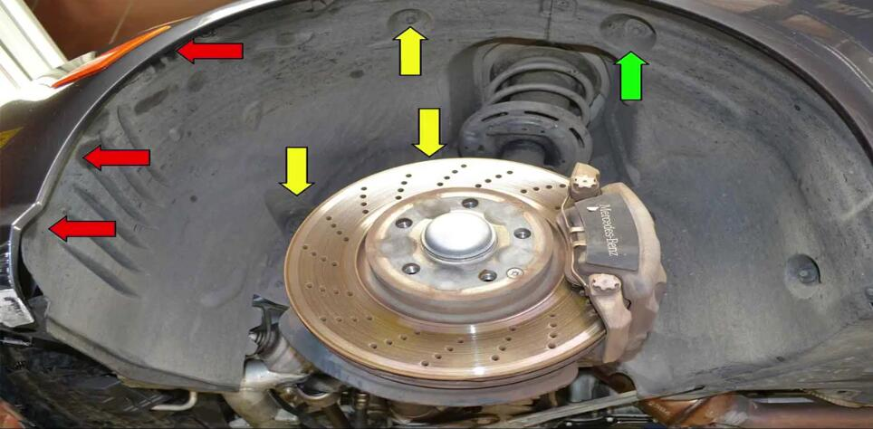 Mercedes Benz W204 Wheel Well Liner Removal Guide (2)