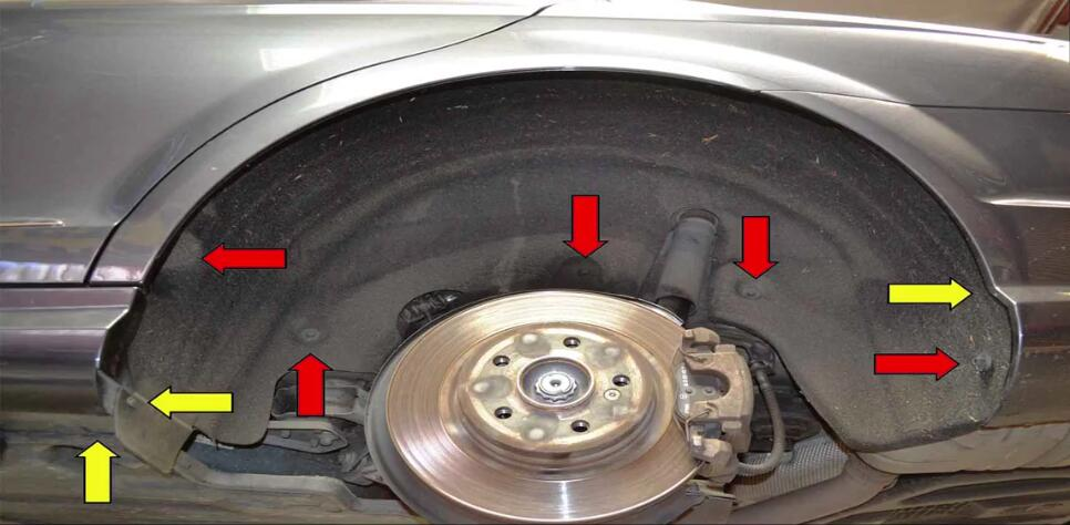 Mercedes Benz W204 Wheel Well Liner Removal Guide (9)