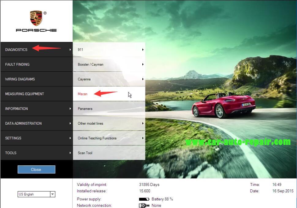 Porsche II Tester Automatic Coding for Porsche Macan (1)