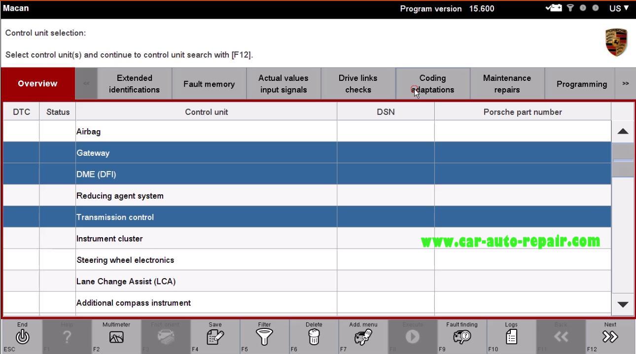 Porsche II Tester Automatic Coding for Porsche Macan (3)