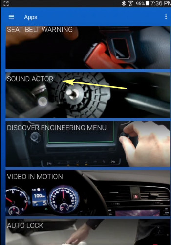 OBDeleven Disable Sound Actor for VW MK7 and Golf (4)