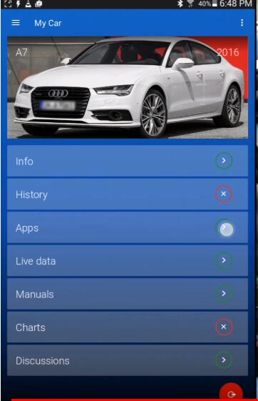 OBDeleven Reset Service & Inspection Interval Light for Audi A7 (3)