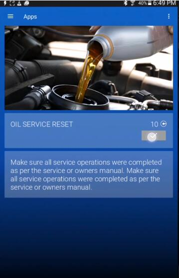 OBDeleven Reset Service & Inspection Interval Light for Audi A7 (6)