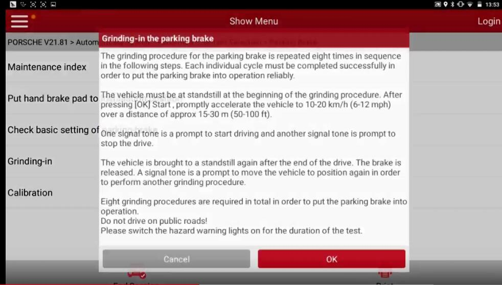 Porsche Panamera 2013 Parking Brake Programming After Replacement (13)