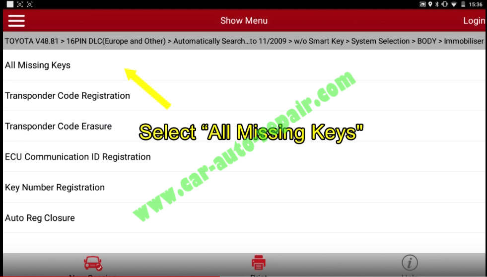 Toyota Crown 2013 Keys & Remote Programming by Launch X431 (11)