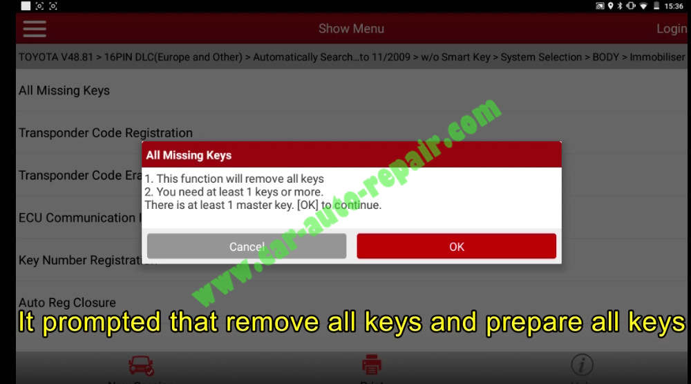 Toyota Crown 2013 Keys & Remote Programming by Launch X431 (12)